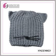 2016 Multicolor Chaud Acrylique Bonnet Tricotée Chapeau d'Oreille (SNZZM023)