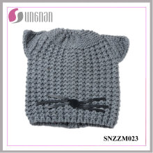 2016 Multicolor Warm Acrylic Knitted Cap Cat Ear Hat (SNZZM023)