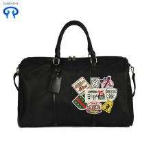 Oxford cloth monochrome graffiti badge travel bag