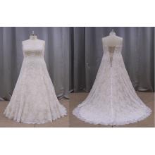 Vestidos de casamento do laço da noiva mais o tamanho