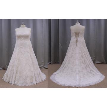 Robes de mariée en dentelle de mariée plus la taille