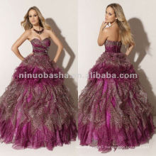 NY-2344 Sweetheart neckline organza skirt quinceanera dress