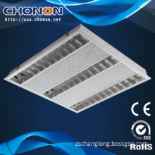 Recessed T5 Industrial Fluorescent Fitting with net cover