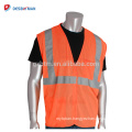 China OEM Economy Yellow Fluorescent Safety Vest High Visibility Polyester Roadway Work Waistcoat With Hoop&Loop Closure Pockets