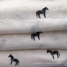 Tejido de lino tejido impreso (QF15-2382)