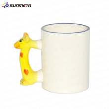 Yiwu Sunmeta Factory Supply High Quanlity Ceramic Animal mugs for sublimation