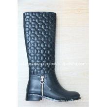 Mode Dame High Heel Europa Frauen Knie Stiefel