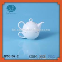 Conjunto de chá de cerâmica OEM, conjunto de chá para uso doméstico, conjunto de chá personalizado para promoção, bule e xícara
