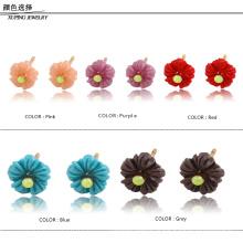 91787-Xuping promocional 18k jóias brincos de flores bonitos atacado para meninas bonitos