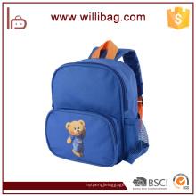 Le sac d'école de sac à dos d'enfants de maternelle de polyester d'ours mignon