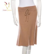 Falda de cachemir de señora de la moda