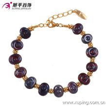 Новое поступление специальные женщины круглый бисер золотые украшения браслет из латуни и сплава меди --74194