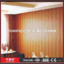 Panneaux muraux intérieurs décoratifs d'extérieur de 198 mm x16 mm WPC