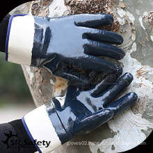 Heavy Duty, Wide Cuff, Open-Back Nitrile Coated Work Gloves/Oil resistant gloves