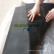 Black Color Gym Rubber Tile with Groove, Size 1000*1000*20mm