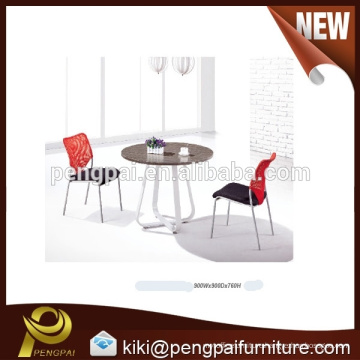MDF negotiation table with steel leg