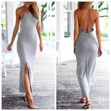 Летнее платье без рукавов с длинными рукавами из хлопка