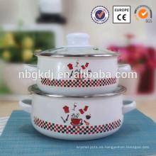 cazuela de utensilios de cocina parini de esmalte de china entera