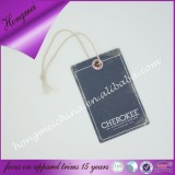 new design custom paper garment hang tag with eyelet and string