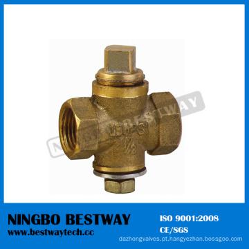 Válvula de encaixe de bronze para gás (BW-V05)