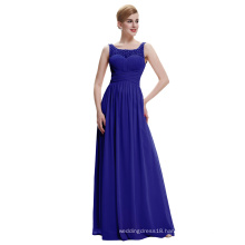 Starzz 2016 Cheap Simple Sleeveless V back Chiffon Royal Blue Evening Dress ST000061-4