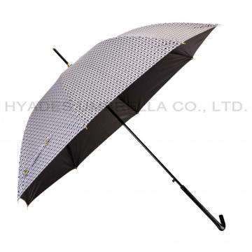 Peso ligero Chidori Pattern Auto Open Straight Umbrella