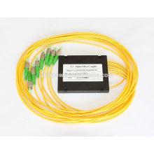 1x8 FC APC cassette PLC splitter, 1x8 diviseur de fibre optique, SM 1310nm / 1550nm 1x12 Fiber Optic Coupler