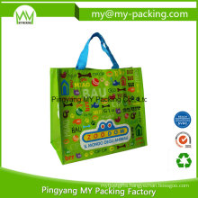 Promotional Competitive Price BOPP Coated PP Woven Shopping Bag