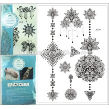 Fashion Lace Flash Tattoo Sticker 15*21cm Waterproof Henna Tattoo j019