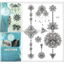 Мода кружева Вспышка татуировки наклейка 15 * 21 см водонепроницаемый татуировка хна j019