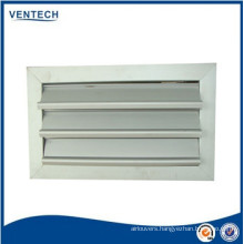 HVAC Systems Air Conditioning Aluminum White Gravity Louver
