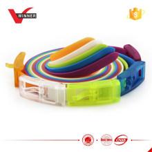 Cintos esportivos coloridos de silicone de borracha
