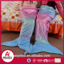 new designer gradient ramp mermaid tail blanket for adults
