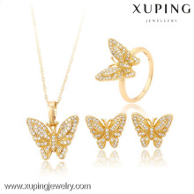60823-Xuping Hot Item Costume Butterfly Jewellery sets For Women