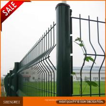 Темно-Зеленый 3 Складки Сварной Проволоки Сетка Заборная