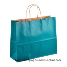 Green Eco-Friendly Wholesale Shopping Paper Carrier Bag with Handle