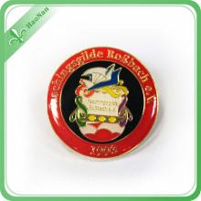 Insigne rond en métal de Badge de bidon de logo de Cusotmized