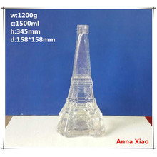 Effile Tower Shape 1500ml Glass Wine Bottles