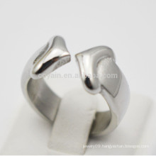 Wholesale Women Stainless Steel Romantic Heart Arrow Ring