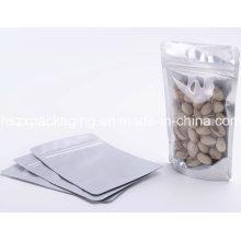 Saco seco plástico do empacotamento de alimento com zíper