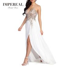 Beading Embroidered Women Gowns Evening Ladies Boho Diamond Dress