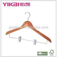 cedar shirt hanger with metal clips