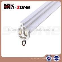 SC09 Rail en plastique à courbure courbée Rail rideau en PVC Rail flexible à rideaux Rail