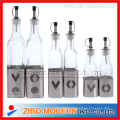Glass Bottle with Stainless Steel Design