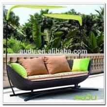 Роскошная круглая кровать Audu Oval Big Rattan
