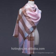 Texted Material Mongolia 200 * 70cm imprimé plaid 100% laine écharpe châle