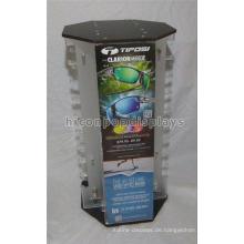 4-Wege-Brillen-Einzelhandel Acryl-Arbeitsplatte 40-Pair-Sunglass-Display-Rack Rotierende Tischplatte Display