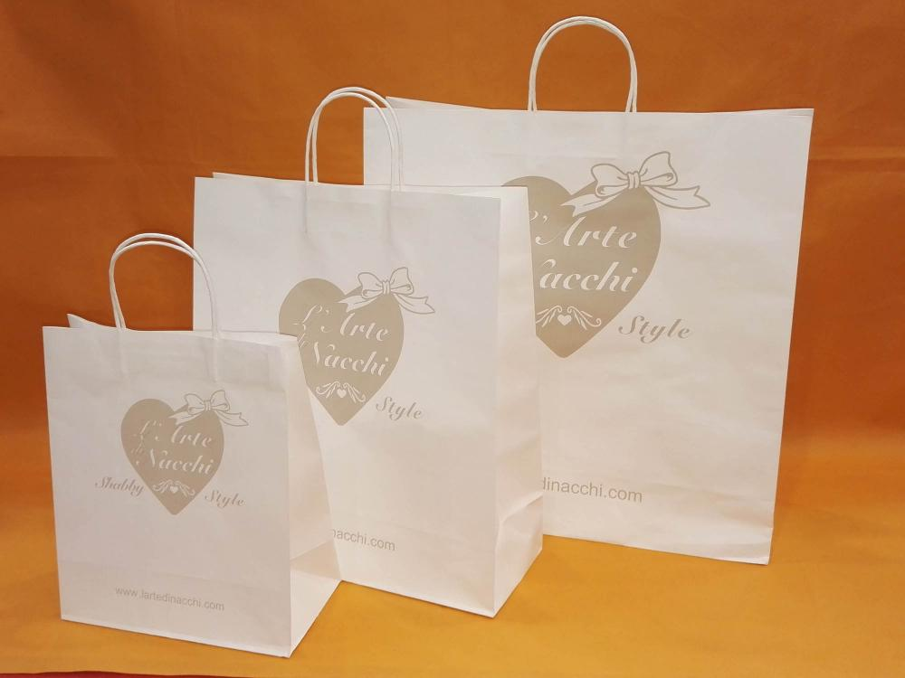 White Printed Shopping Bag