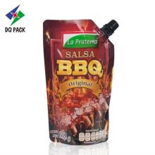 BBQ Stand up pouch with spout Sauce Packaging