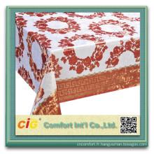 Tissus de chiffon table bas prix pvc